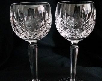 Waterford Irish Hand-cut Crystal - (Pair) Wine Hocks