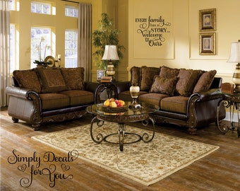 Family Wall Decal, Living Room Decal, Family Sticker, Wall Decal, Wall  Sticker