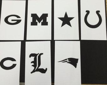 Custom Logo Stencil Made from 4 Ply Mat Board