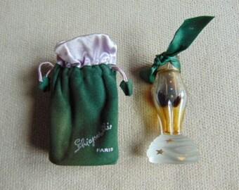 """VINTAGE c1940s Schiaparelli """"Zut"""" Perfume Bottle & Pouch"""