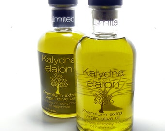500ml of 100% Organic Greek Premium Extra Virgin Olive Oil ,KALYDNA ELAION 500ml (16.9oz)