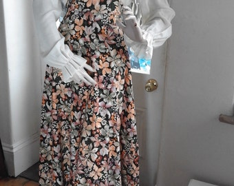 70's Folk Floral Maxi Dress