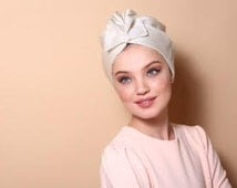 white turban,turban hat,head cover ,Chemo hat,women's turban,modern hijab,fashion hair wrap,hair bands, wedding headbands,hair pieces