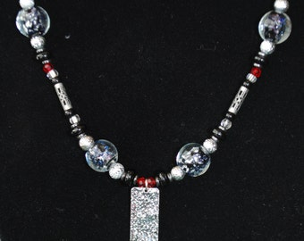 Silver Chic Beaded Necklace