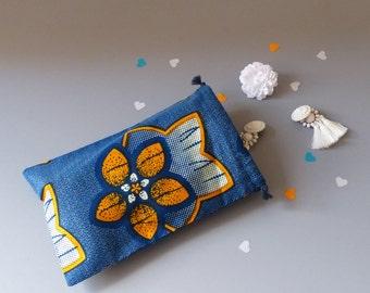 Pochon wax flower - African fabric