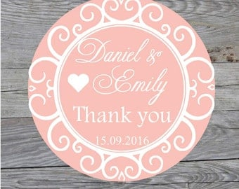 Personalized Wedding Stickers Wedding Favor Labels Wedding Stickers Personalized Thank You Stickers Favor Stickers Favor Bag Stickers