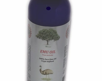 16 oz Australian EMU OIL ORGANIC Triple Refined Natural Pure 16 oz for Skin health Magic