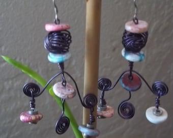 Purple Love Knot Earrings