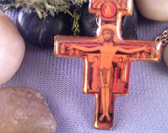 San Damiano Cross Pendant Necklace