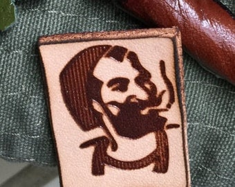ZigZag Man Leather Pin