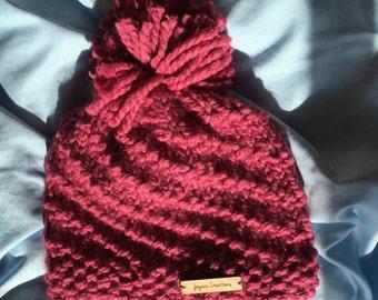 Raspberry Spiral Hat