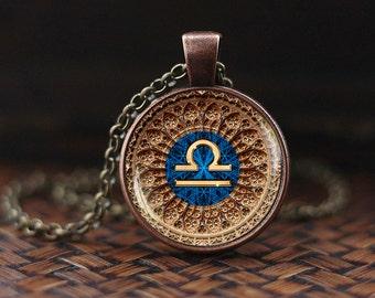 Libra Zodiac Necklace, Libra Pendant, Libra Zodiac Jewelry, Libra constellation Necklace, Libra Zodiac Sign, Astrology Necklace, m127