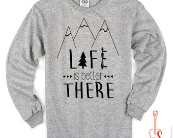 Life is Better There Toddler/Kids Tee - Long Sleeve