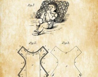 Diaper Patent 1899 - Baby Room Decor, Patent Print, Vintage Nursery Art, Baby Shower Gift, Baby Diaper, Baby Shower Gift