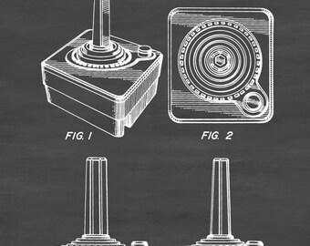 Atari Controller Patent 1980 - Patent Print, Wall Decor, Atari Art, Atari Poster, Atari 2600 Poster, Atari Patent, Atari 2600