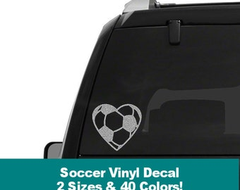 Soccer Car Decal Etsy - Car sticker decal for girls
