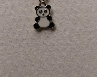 Panda Bear with crystal eyes bracelet