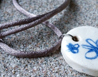Clay Medallion necklace