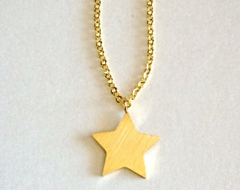 Gold Star Necklace, Star Necklace, Dainty Star Necklace, Gold Chain, Gold Star, Gift for mom, gift for her