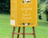PRINTABLE Large Welcome Wedding Sign // Book Wedding Sign // Novel Wedding // Story Wedding // Guests Sign // DIY