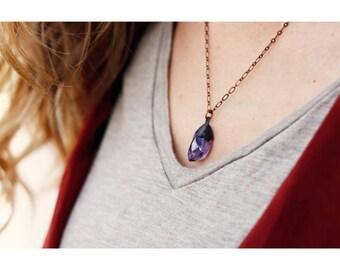 Amethyst Necklace // February Birthstone