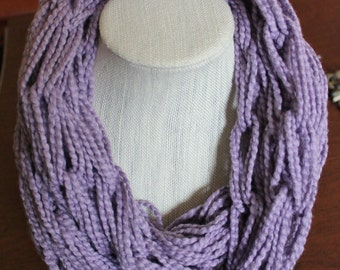 Organic Cotton Lavender Arm Knit Infinity Scarf