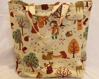 Shopping Bag/ Tote/ Shopper/ Organic Cotton/ Canvas/ Print/ Laundry Day/ Handmade