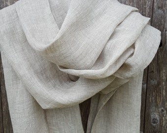 Grey linen scarf summer scarf natural linen spring scarf summer linen grey scarf gift idea Trending Items Scarf Wrap Fashion Accessories
