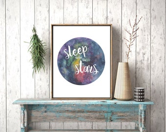 Sleep Under the Stars, Constellations, Night Sky Painting, Star Painting, Star Quote, Starry skies, Outer space art, Galaxy Art, Galaxy