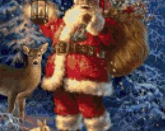 Vintage Santa and Friends Cross Stitch pattern PDF - Instant Download!