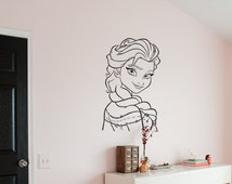 Elsa Inspired Wall Decal Frozen Movie Wall Decal Disney Wall Decal Princess Wall Decal Elsa Decals Girls Nursery Decals Disney Princess