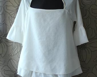 Women's blouse,Renaissance blouse, Rustic blouse, Pirate blouse,Victorian blouse
