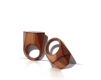 Jewelry Rings,wood,ring,wooden ring,wood ring,modern jewelry,wooden jewelry,geometry jewelry,geometry ring
