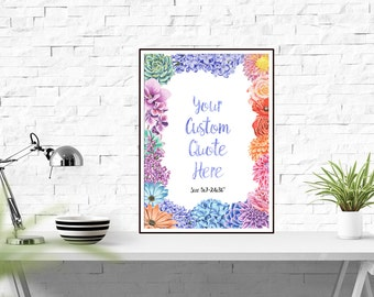 Your Quote Here, Printable Custom Quote, Custom Gift Print, Personalized Print, Custom Printable, Custom Design, Custom Quote Gift