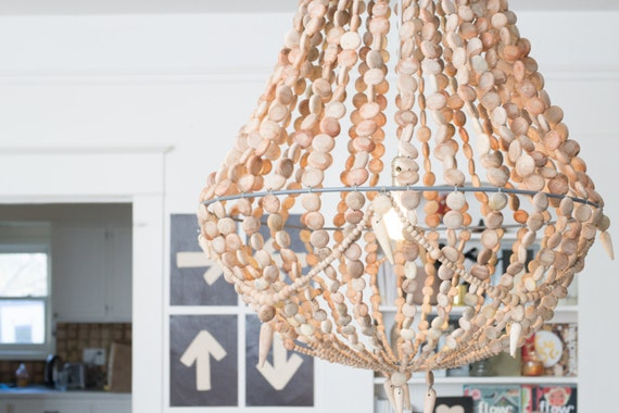 Large rustic boho french country natural by for Natural wood chandelier