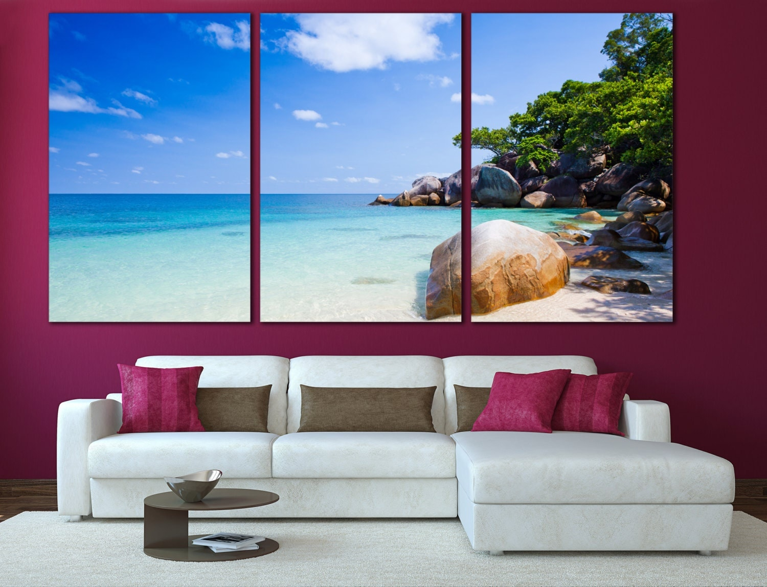 Coastal Wall Decor: Tropical Decor Beach Wall Art Ocean Wall Art Nature Print