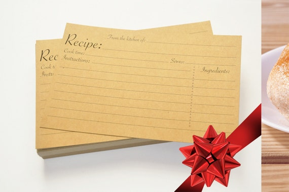Wedding Gift Recipe Cards : Christmas gift, Recipe cards, Kraft Paper wedding cards, 4x6 inches ...