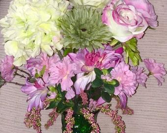 Pink & Lime Float - Spring/Summer Floral Arrangement