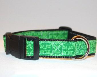Green Irish Celtic Adjustable Dog Collar