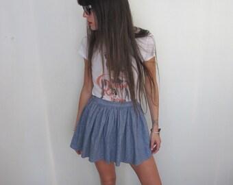 80s Vintage Chambray Skirt