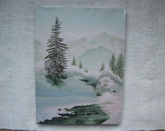 Snow scene print - landscape