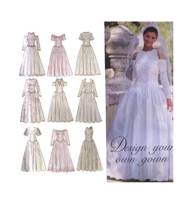 VENTA sin cortar simplicidad 8888, 90s costura patrón, tamaño boda ...