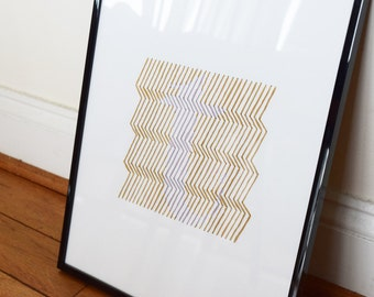 """Hand stitched 3d """"t"""""""