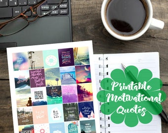 Motivational/Inspirational Quotes Printable Planner Sticker for Erin Condren Planner