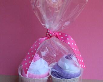 Double Cupcake Onesie Gift Set - Boy, Girl or Gender Neutral