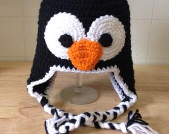 Crochet Penguin Hat