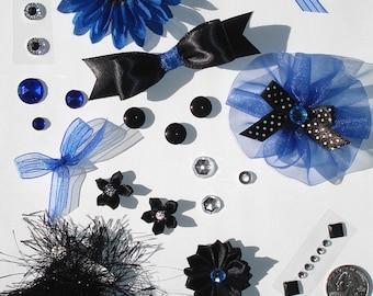 Inspiration Embellishment Kit Silk Flowers Satin Bows Papercrafts Hair Bows Hats Scrapbooking Needlecrafts Home Decor Rhinestones Fun Fur