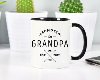 Grandpa to be, Grandpa Mug, Grandfather Mug, Pregnancy Announcement Mug, Rose Gold Rebel, Grandparents Mugs, Pregnancy Reveal, New Grandpa