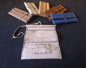 leather handmade tobacco pouch
