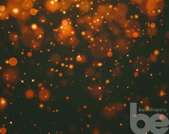 Dark Gold Bokeh Christmas Backdrop (HDY-GI-018)